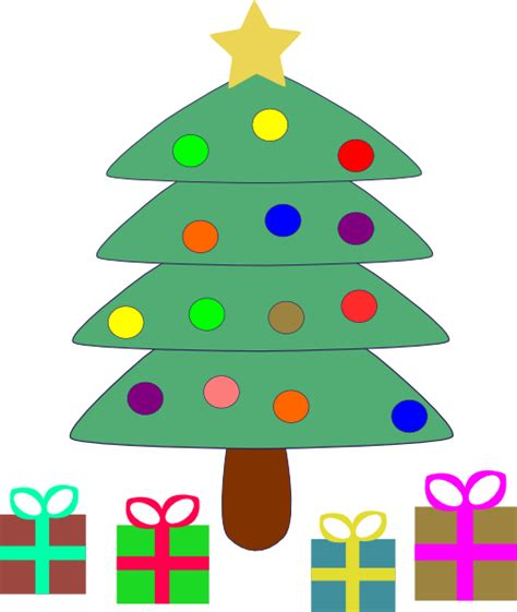 christmas tree gifts clip art at clker com vector clip