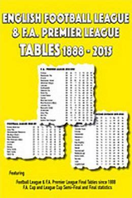 European Premier League Table Football League F A Premier League Tables 1888
