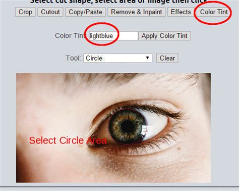 eye color editor lunapic free photo editor change eye color
