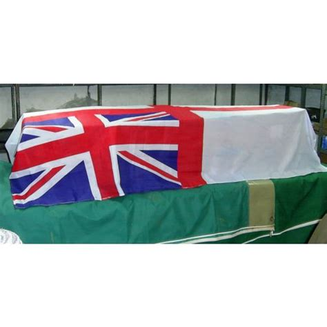casket drape coffin drape flag large royal navy white ensign relics
