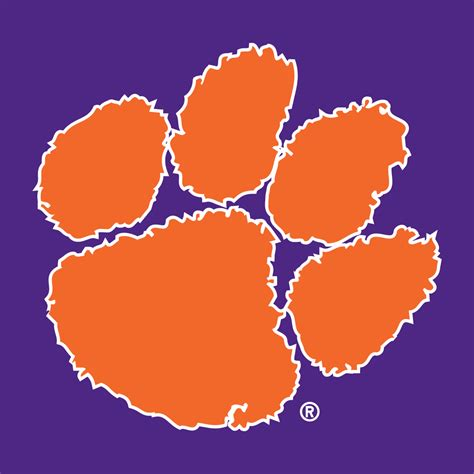 clemson football colors clemson tigers secondary logo ncaa division i a c