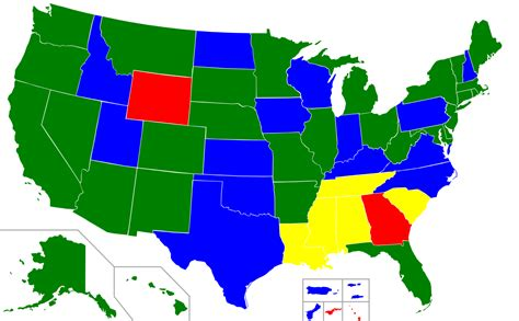 us map for minimum wage in the united states