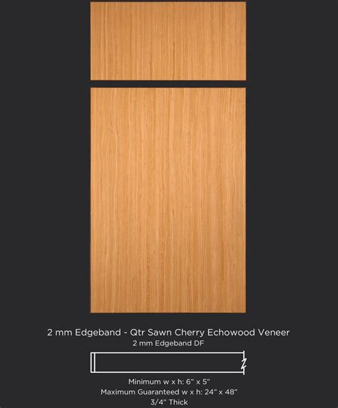 Veneer Kitchen Cabinet Doors European Style Slab Veneer Cabinet Door In Quarter Sawn Cherry Echowood Veneer By Taylorcraft