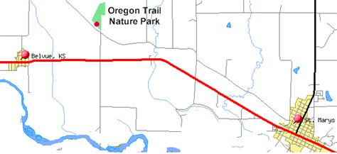 map of oregon trail through kansas oregon trail nature park