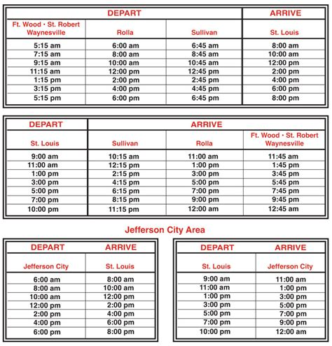 lifetime schedule time schedule usa express