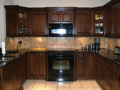 kitchen backsplash with oak cabinets and black appliances the worth to be made kitchen cabinets ideas you