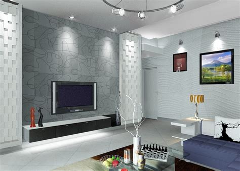 Living Room Tv Set Interior Design Interior Living Room Design With Tv Wall 3d House