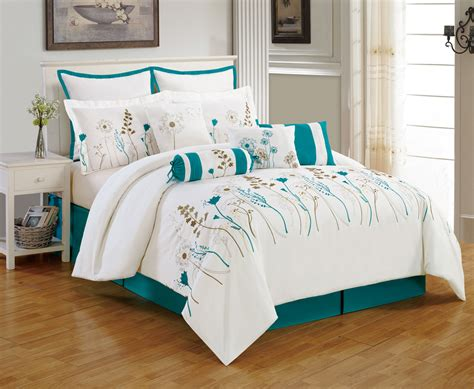 Comfortable Comforter Sets by Teal Comforter Sets Make Your Bedroom In Comfortable