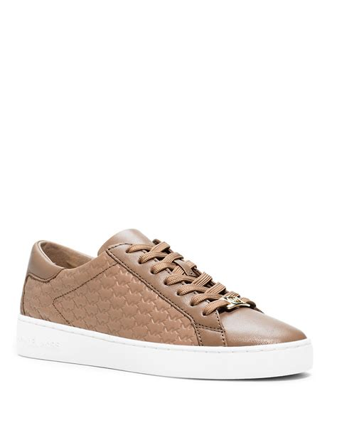 mk sneakers michael michael kors colby leather sneakers in lyst