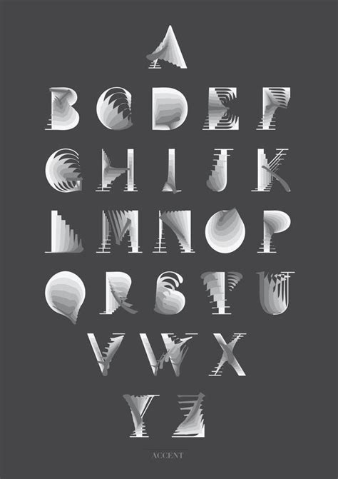 visual design font experimental font design by si liu