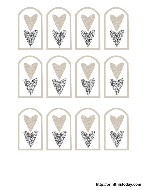 9 best images of printable wedding templates favor free