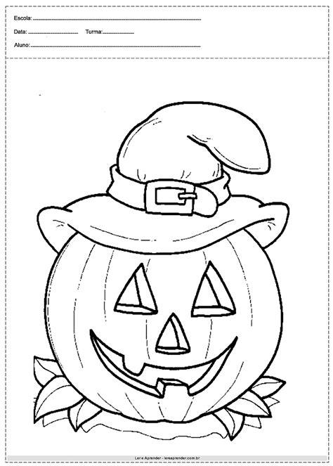 40 desenhos de Halloween para colorir - Para imprimir