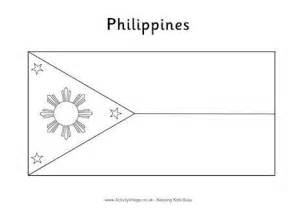 Philippines Flag Colouring Page Philippines Flag Coloring Page
