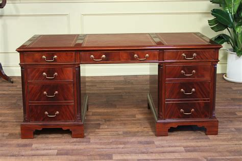 high end executive desks large high end leather top executive mahogany office desk