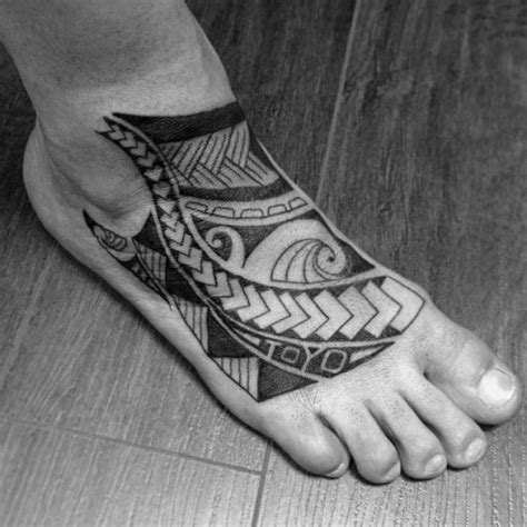 mens foot tattoos 40 tribal foot tattoos for manly design ideas