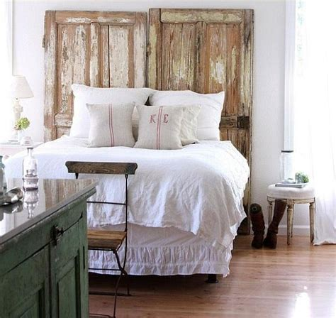 doors as headboard hodgepodge home pinterest