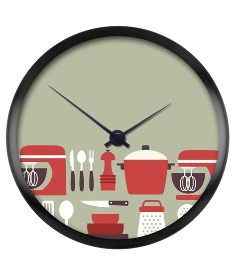 designer kitchen wall clocks bright orange kitchen tools designer wall clock buy