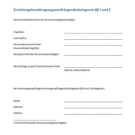 Versicherung Auto 18 J Hrige by U18 Formular Der Partyzettel Zum Ausdrucken Giga