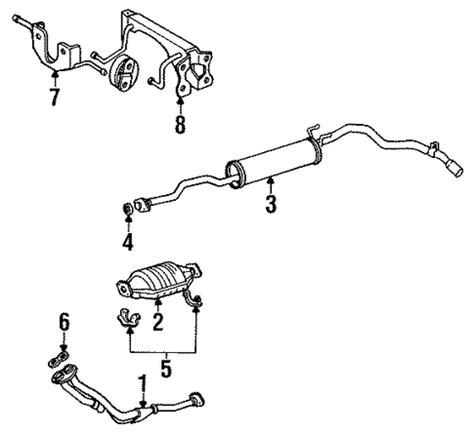 1987 Toyota Exhaust System Exhaust Components For 1987 Toyota