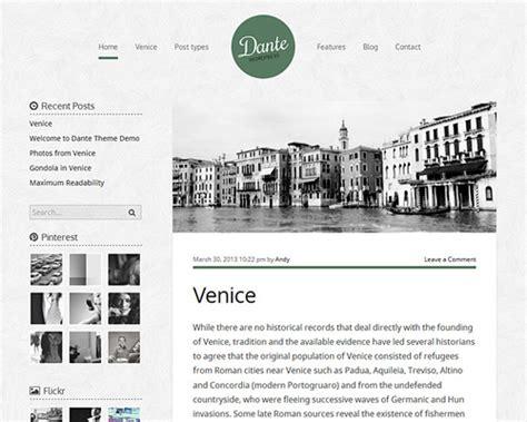 theme wordpress dante dante personal wordpress template themeshaker com