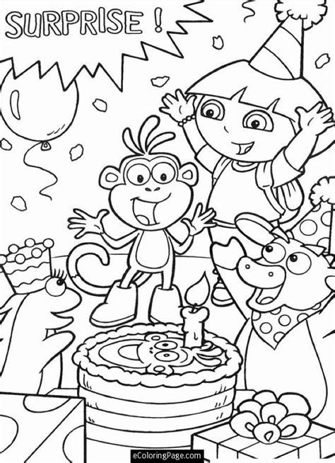 happy birthday dora the explorer coloring pages printable dora coloring pages az coloring pages