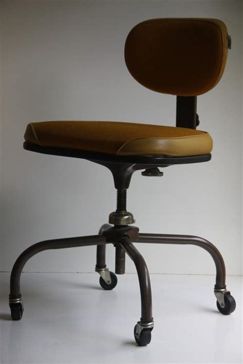 60 s retro mid century modern cramer swivel office chair
