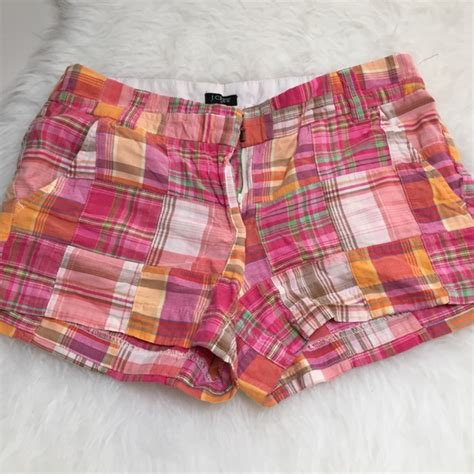 Patchwork Madras Shorts - 81 j crew j crew patchwork madras plaid