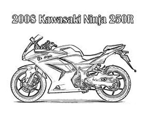 Kawasaki Ninja Coloring Pages | 2 free motorcycle kawasaki ninja coloring pages