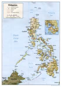 Philippines World Map by Map Of The Philippines Geography