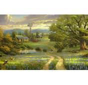 Thomas Kinkade Landscape Paintings  HD Desktop Wallpapers