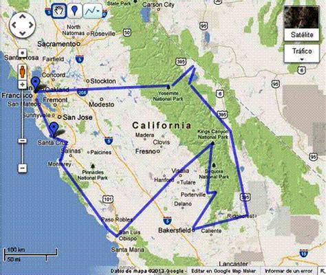 usa map km california 2013 diarios de viajes de usa ishtarinside
