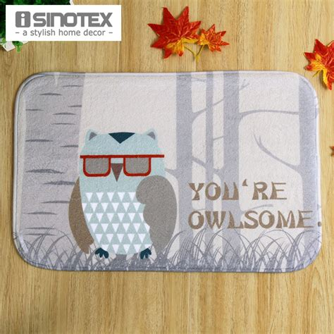 Owl Kitchen Rugs Floor Mat Carpet Owl Print Pattern Living Room 40x60cm 15 6x23 6 Rug Doormat Kitchen Non Slip