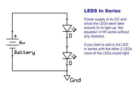 are the three resistors shown wired in series parallel or a combination wiring leds techdose
