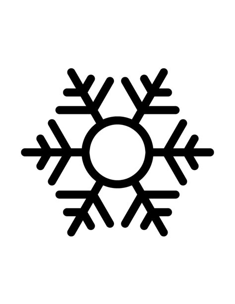 snowflake silhouette 11 h m coloring pages