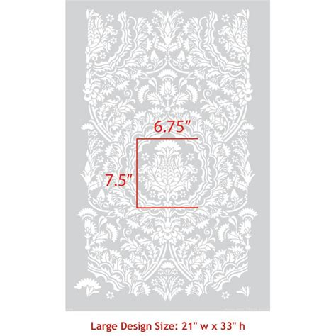 stencil wall stencils pattern new 8 26 quot x11 6 quot airbrush pvc laleh persian damask wall stencil royal design studio