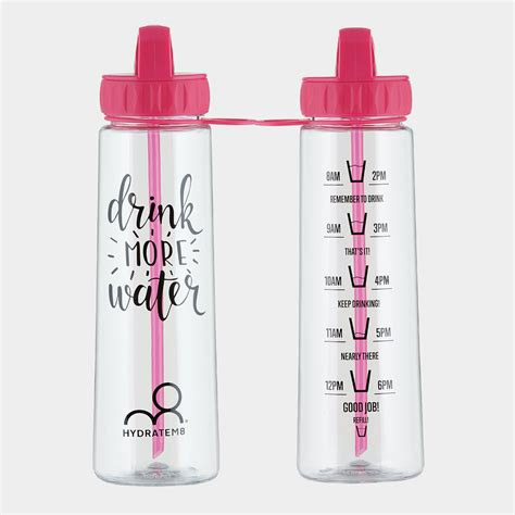 hydration tracking water bottle pink 900ml hydration tracker water bottle hydratem8