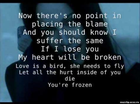 frozen madonna testo madonna frozen testo lyrics