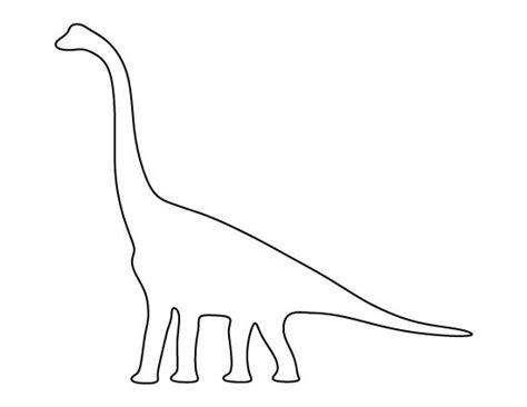printable dinosaur stencils brachiosaurus pattern use the printable outline for