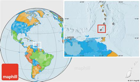 where is grenada located on a world map political location map of grenada