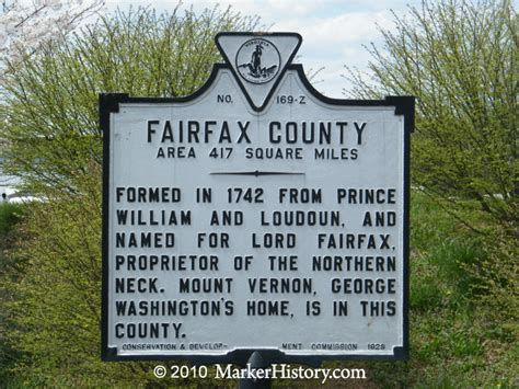 Fairfax County Search Fairfax County Z 169 Marker History