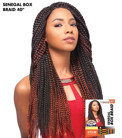 hair braides for 40 years senegal box braid 40 quot sensationnel crochet braiding hair