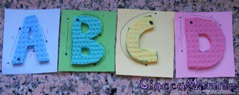 lettere alfabeto numerate cioccomamma alfabeto tattile con le spugne