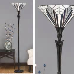 Foyer Pendant Lights Tiffany Art Deco Standard Lamp With Hand Crafted Uplighter