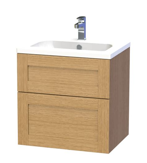 Miller Bathroom Furniture Miller 60 Oak Two Drawer Wall Hung Vanity 588 5t