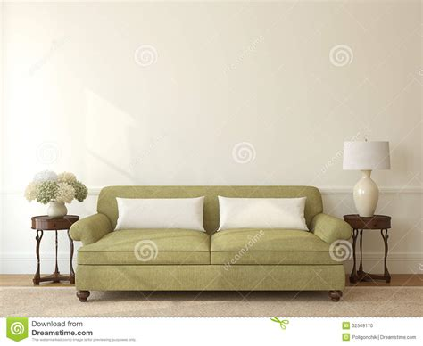 empty couch living room interior stock photo image 32509170