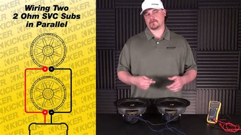 subwoofer wiring   ohm single voice coil subs  parallel youtube