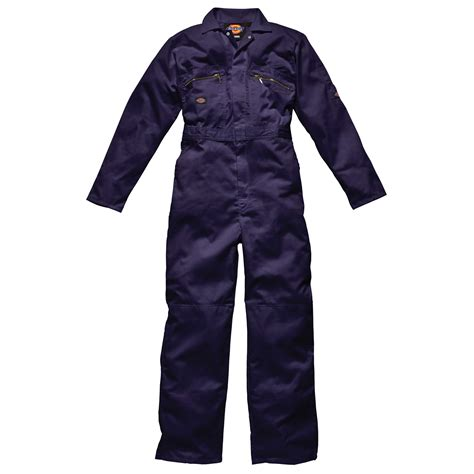dickies mens redhawk zip front work garage overalls coverall boiler suit wd4839 ebay
