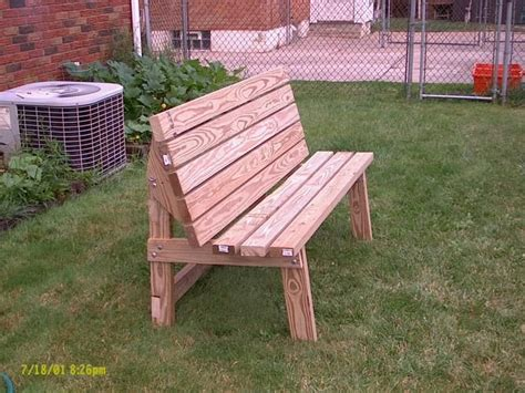 park bench plans convertible park bench picnic table by joe cumbo