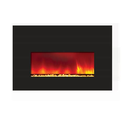 amantii small electric fireplace insert with 38x25 quot black