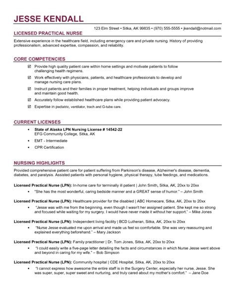 lpn resume skills resume ideas